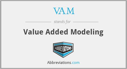 VAM - value added modeling