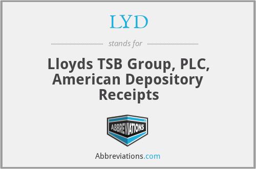 LYD - Lloyds TSB Group, PLC, American Depository Receipts