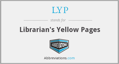 LYP - Librarian's Yellow Pages