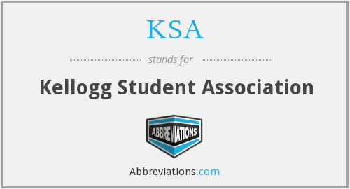 KSA - Kellogg Student Association