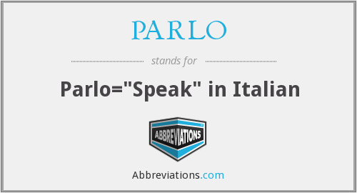 What does PARLO stand for?