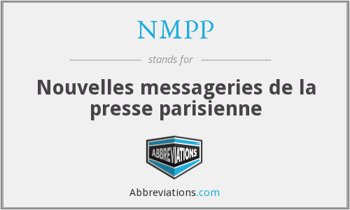 NMPP - Nouvelles messageries de la presse parisienne