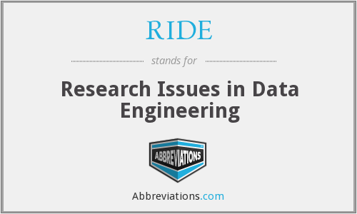 RIDE - Research Issues in Data Engineering