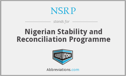 NSRP - Nigerian Stability and Reconciliation Programme