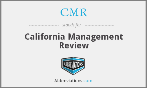 CMR - California Management Review