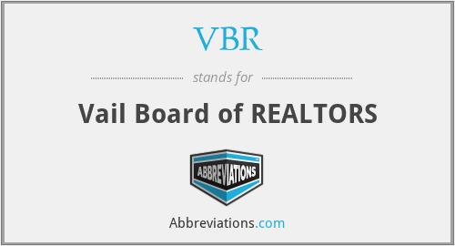 VBR - Vail Board of REALTORS