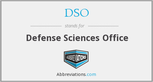 DSO - Defense Sciences Office