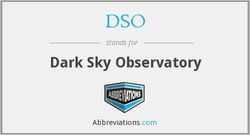 DSO - Dark Sky Observatory