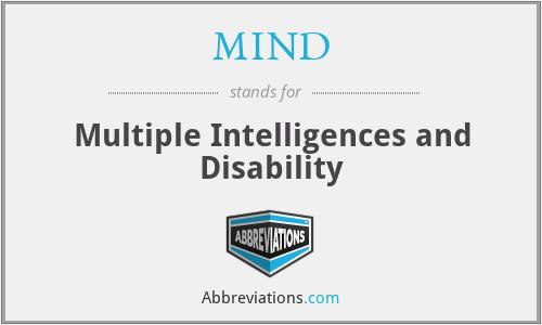 MIND - Multiple Intelligences and Disability