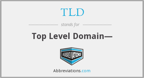 TLD - Top Level Domain—