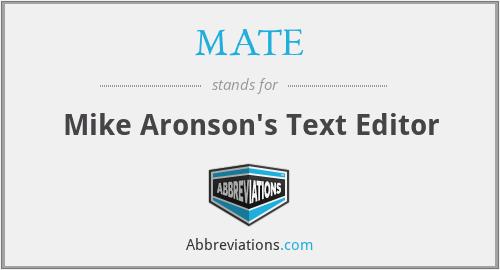 MATE - Mike Aronson's Text Editor