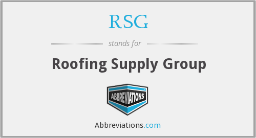 RSG - Roofing Supply Group