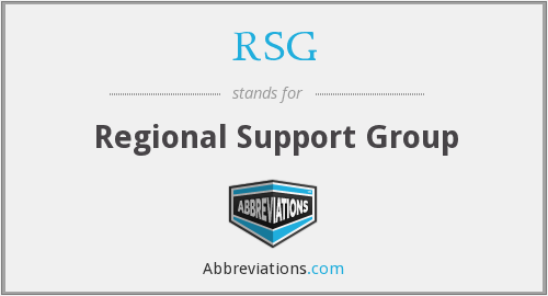 RSG - Regional Support Group