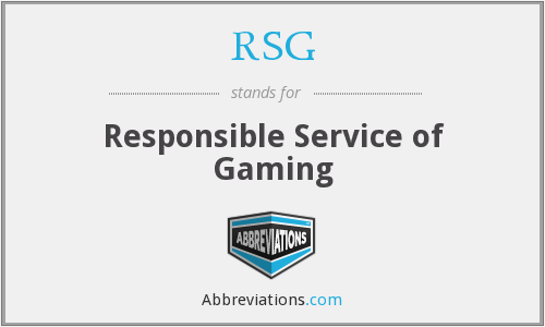 RSG - Responsible Service of Gaming