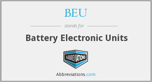 BEU - Battery Electronic Units