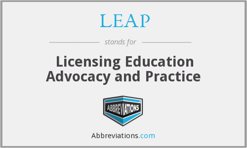 LEAP - Licensing Education Advocacy and Practice