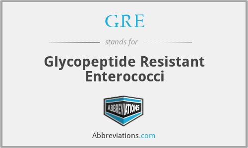 GRE - Glycopeptide Resistant Enterococci