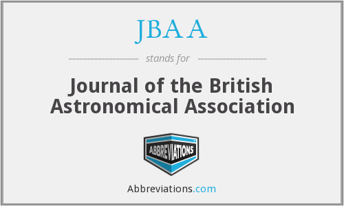 JBAA - Journal of the British Astronomical Association
