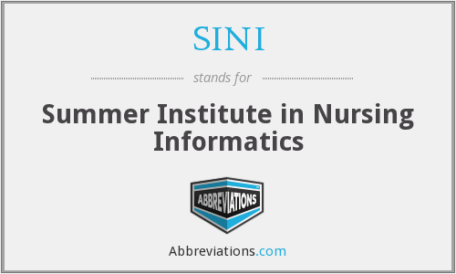What does SINI stand for?
