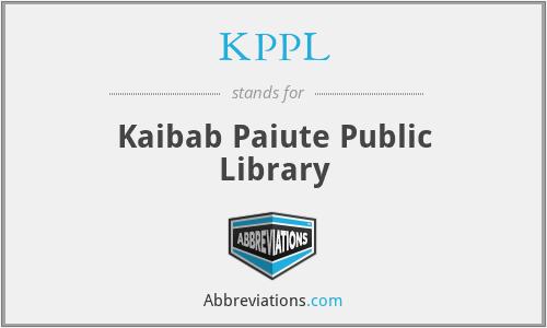 KPPL - Kaibab Paiute Public Library