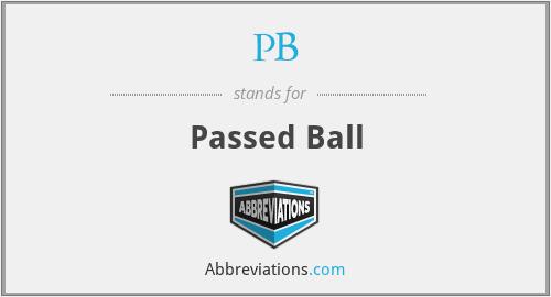 PB - Passed Ball