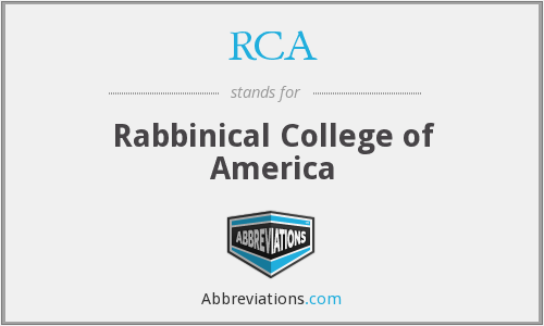 RCA - Rabbinical College of America