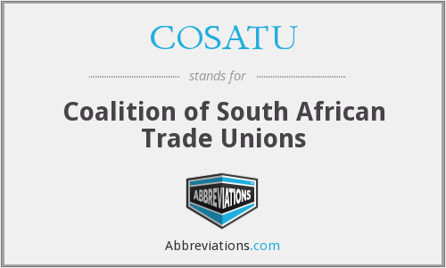 What does COSATU stand for?