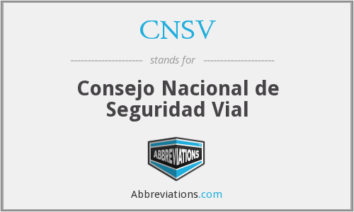 What does CNSV stand for?