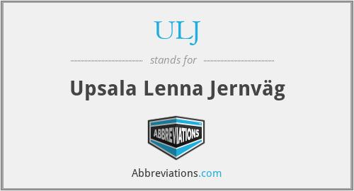 ULJ - Upsala Lenna Jernväg