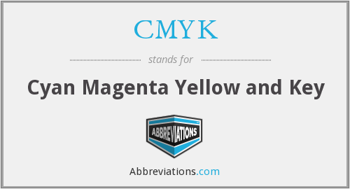 CMYK - cyan magenta yellow and key