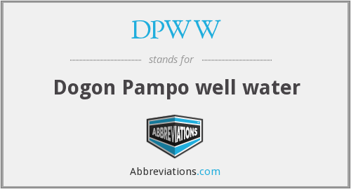 What does DPWW stand for?