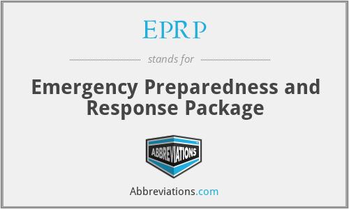 EPRP - Emergency Preparedness and Response Package