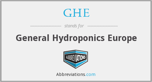 GHE - General Hydroponics Europe