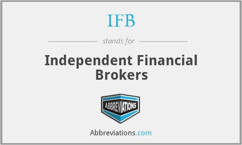 IFB - Independent Financial Brokers