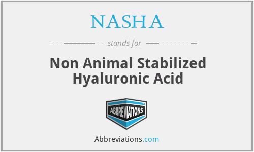 NASHA - Non Animal Stabilized Hyaluronic Acid