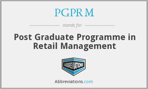 What does PGPRM stand for?