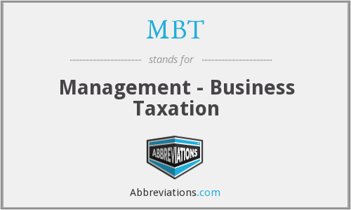 MBT - Management - Business Taxation