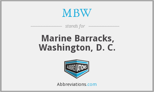 What does MBW stand for?