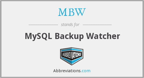 MBW - MySQL Backup Watcher