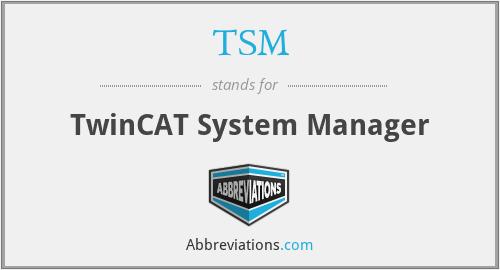 TSM - TwinCAT System Manager