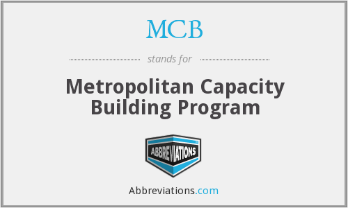 MCB - Metropolitan Capacity Building Program