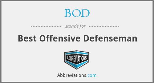 BOD - Best Offensive Defenseman