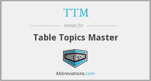 TTM - Table Topics Master