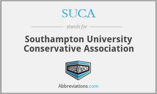 SUCA - Southampton University Conservative Association