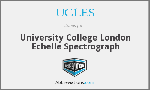 What does UCLES stand for?