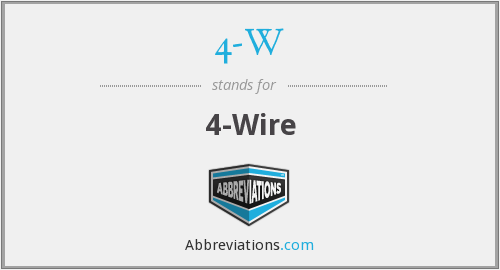 What does 4-W stand for?