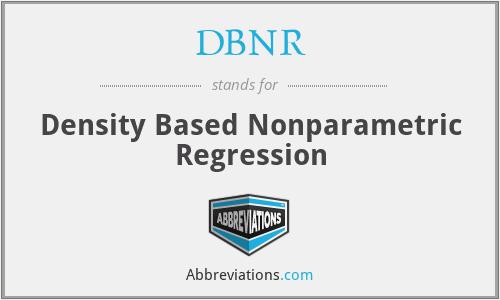DBNR - Density Based Nonparametric Regression
