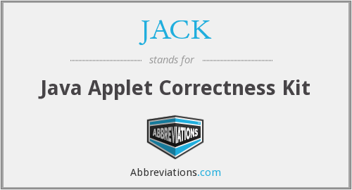 JACK - Java Applet Correctness Kit