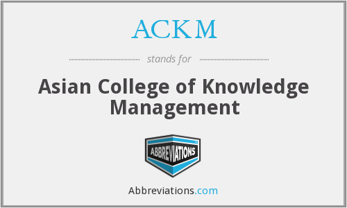 What does ACKM stand for?
