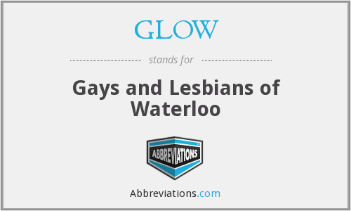 GLOW - Gays and Lesbians of Waterloo